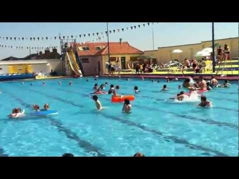 Stonehaven open air swimming pool opening day 2012 youtube for Morris il public swimming pool