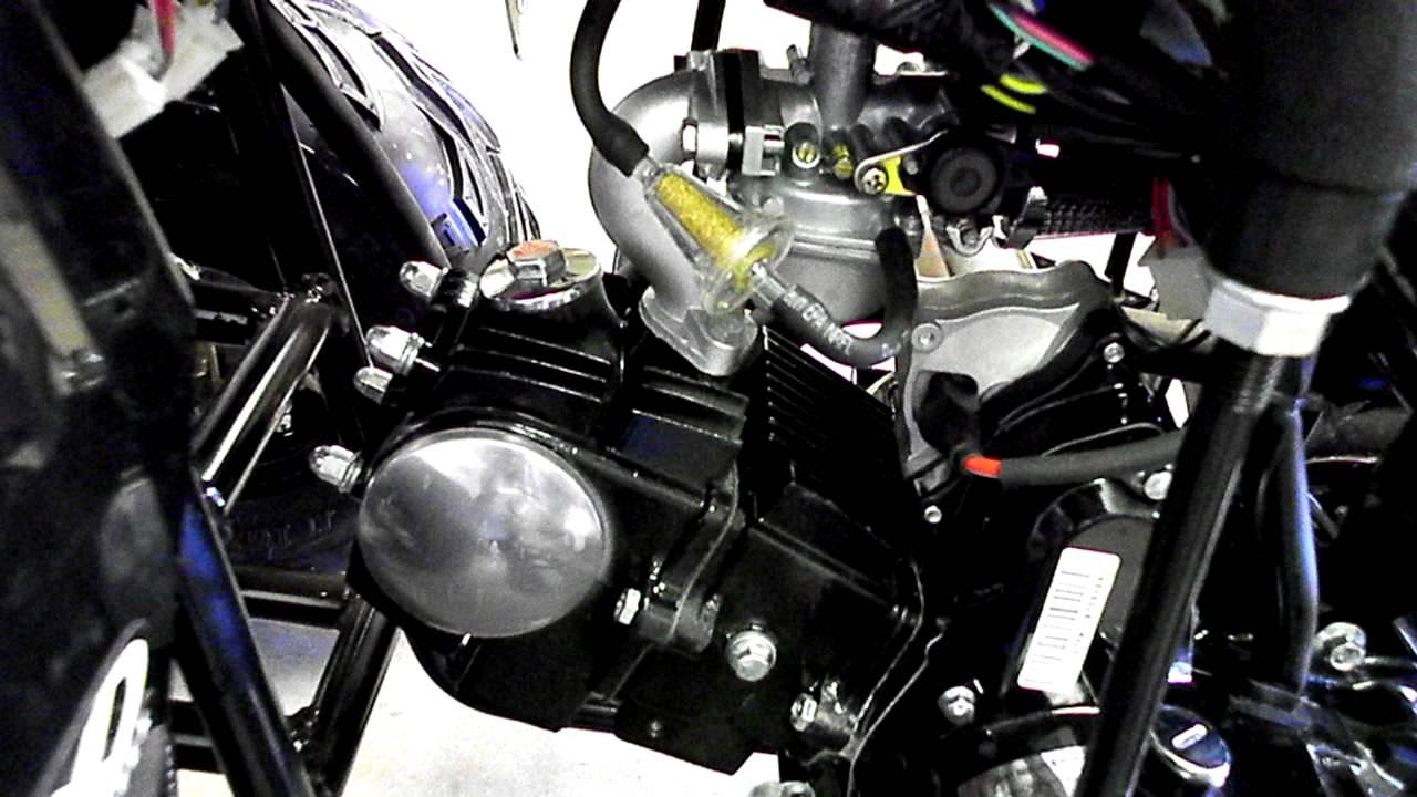 Taotao 125A with Upgrades  Twist Throttle, Carb, Sprocket Kit!! 110cc 125cc  YouTube