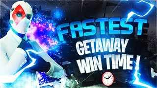 FORTNITE FASTEST GETAWAY WIN EVER! (6m 59s) + Getting A Kid His First Win !
