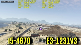 Intel i5-4670 vs XEON E3-1231v3 | BF 1 - Batman - MW Remastered - GTA V | Comparison