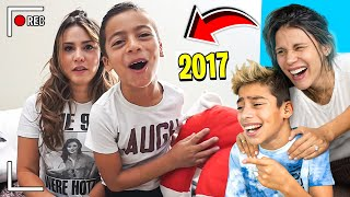 REACTING To Our FIRST EVER YOUTUBE VIDEO!!! (SO CRINGE) 😂   The Royalty Family