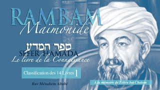 RAMBAM - Classification des 14 Livres - 1