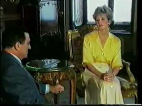 Princess Diana with Hosni Mubarak