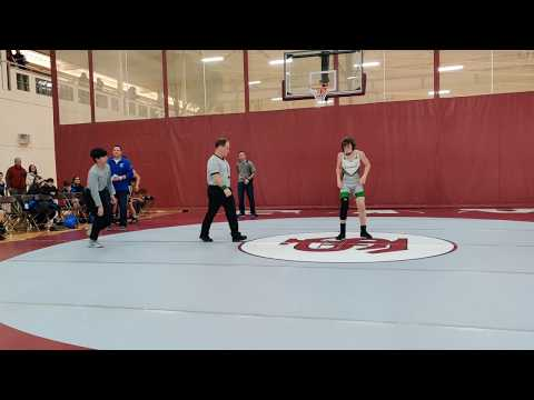 Corbin's first match, won by Pin Fall at the Fay School Meet, 12/13/2019