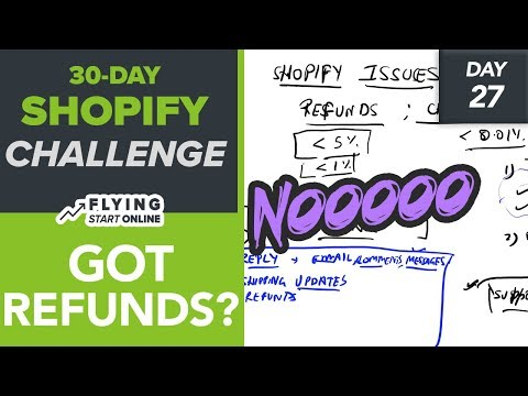 DEALING WITH SHOPIFY REFUNDS & CHARGEBACKS (Day 27/30) #Biza