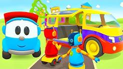 Zeichentrickfilm für Kinder. Leo der Lastwagen. Minivan für die Roboter.