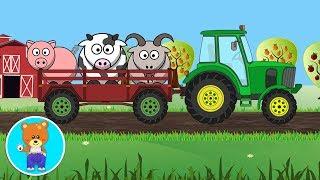 Трактор и Домашние Животные. Учим Голоса Животных. Развивающие Мультики для Малышей