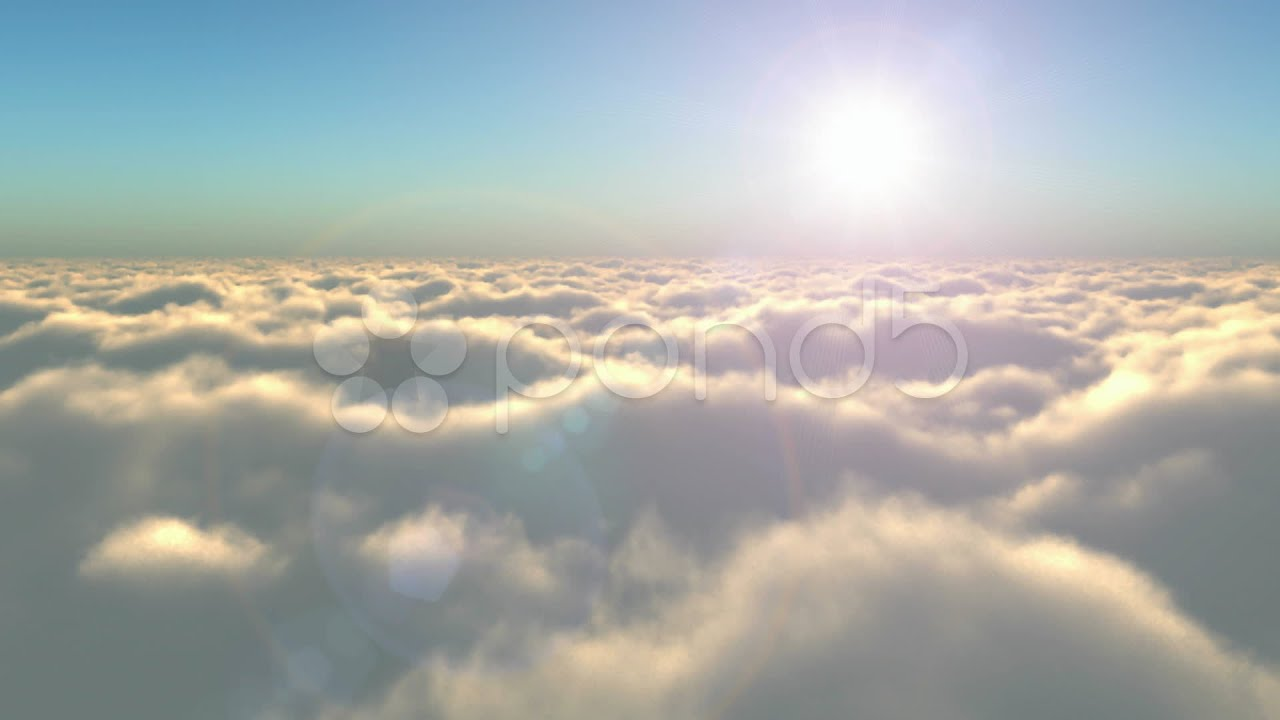 Flight above the clouds stock footage youtube