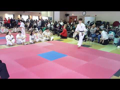 Massimiliano's First Place Kata Performance at West Island Tournament 2018