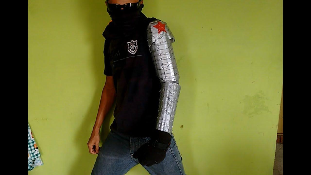 como fazer braço bionico soldado invernal (Capitão América Guerra ...