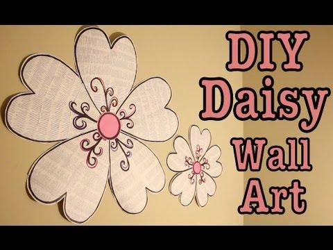 DIY: DAISY WALL ART! ROOM DECOR | #Roomspiration   YouTube