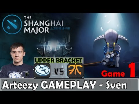 Arteezy - Sven Gameplay | EG vs FNATIC Game 1 | Shanghai Major 2016