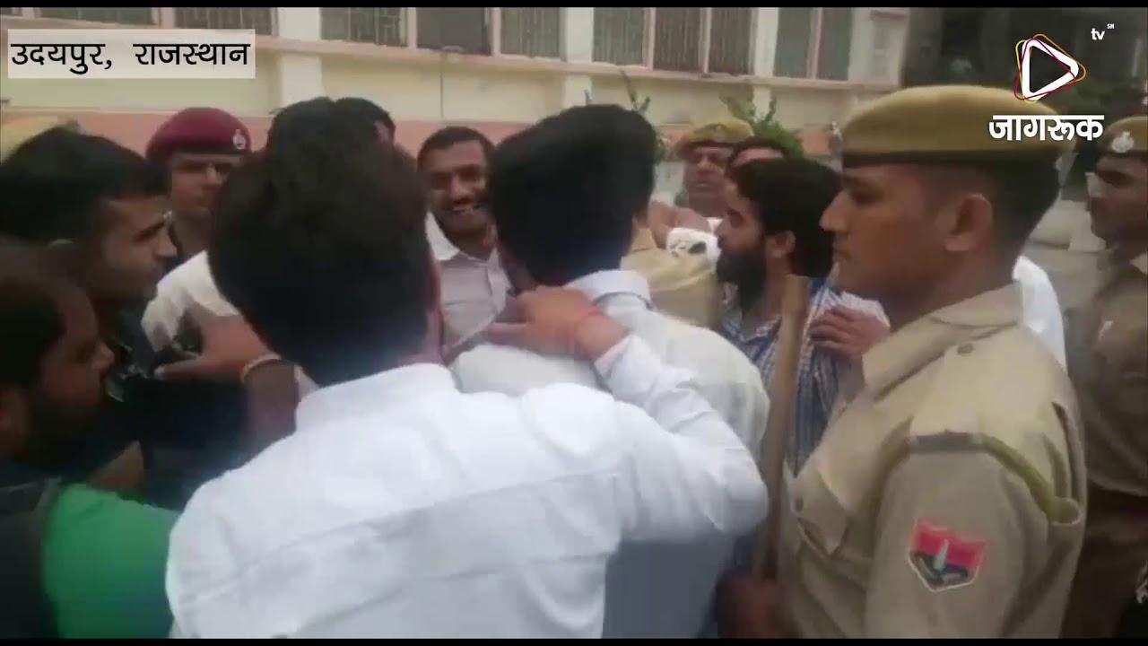उदयपुर : रेजिडेंट डॉक्टर्स द्वारा ट्रैफिक पुलिस के एएसआई से मारपीट