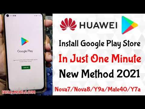 How To Install Google Play Store On Huawei Nova7i/Nova8/Y9a/Mate40/P40 || One minute 100% install