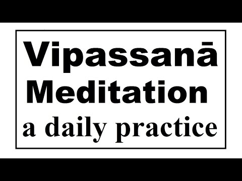 Vipassanā Meditation: a daily meditation timer. 45 minutes, gong every 5. (Meditation videos series)