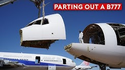 Cutting and Scrapping a B777 - Inside The Airplane Graveyard