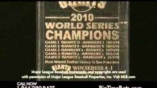San Francisco Giants World Series Champions Baseball & Display Case