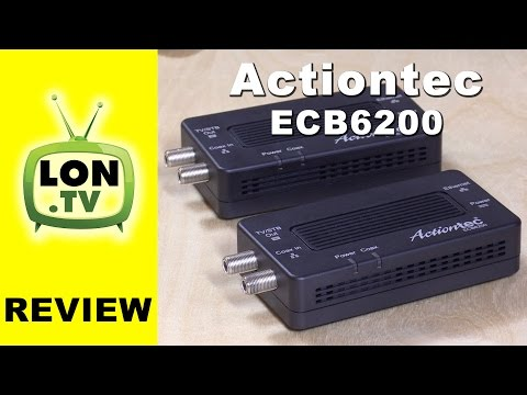 Actiontec ECB6200K02 Bonded MOCA 2.0 Review - Extend a network with cable TV wires!