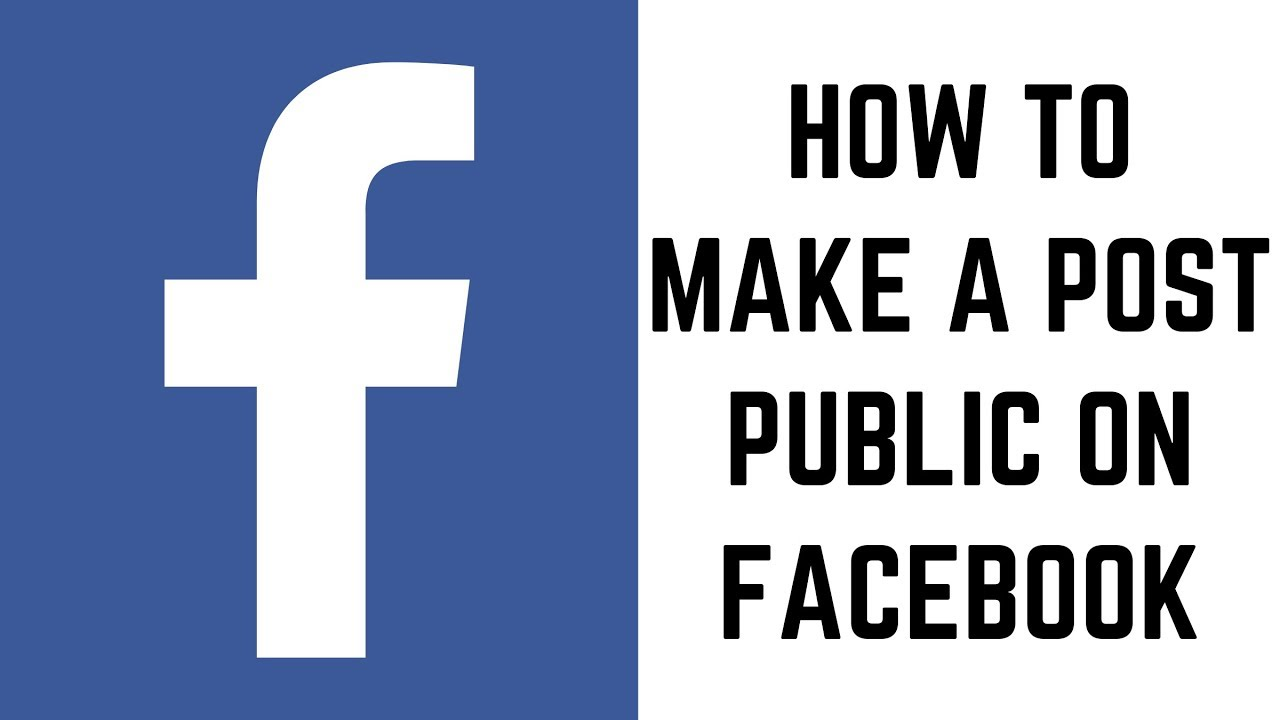 How to Make a Post Public on Facebook - YouTube