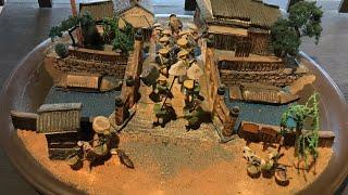 東海道五十三次  手作りジオラマ  大名行列      滋賀県 東海道伝馬館内
