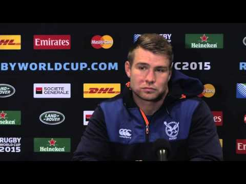 Post-game Interview New Zealand vs. Namibia RWC2015: Johan Deysel