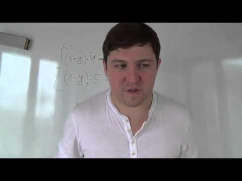 видеоурок по алгебре системы уравнений