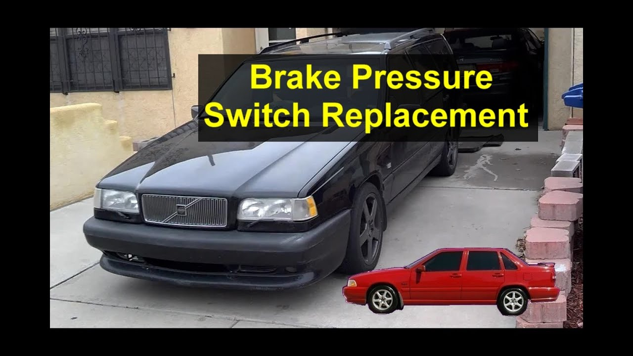 brake pressure switch sensor replacement volvo s70 v70 850 etc votd youtube. Black Bedroom Furniture Sets. Home Design Ideas