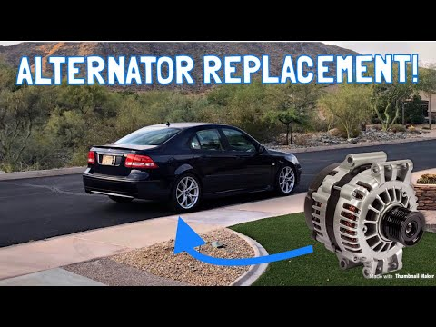 Saab 9-3 Alternator Replacement (2.0T)