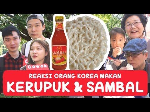 Reaksi Orang KOREA Makan KERUPUK Dan SAMBAL !!! | Indonesian Food | Indonesia | COWOK KOREA