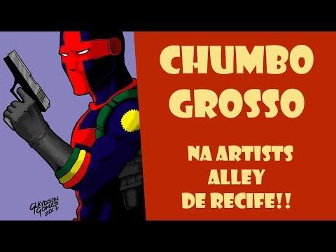 CHUMBO GROSSO  e GO PANDA na artists alley em Recife!
