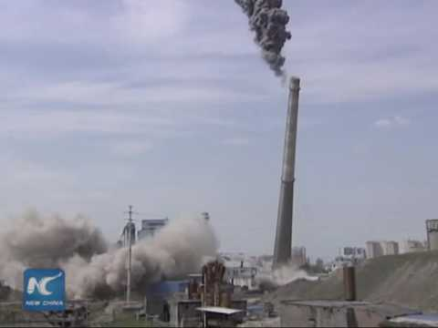 Massive demolition in coal-fired power plant