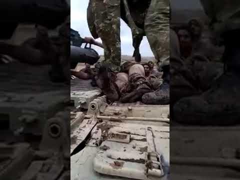 Новые кадры с подбитым танком ВС Армении и с криком армянина Карабах Азербайджанский. Кадры не для