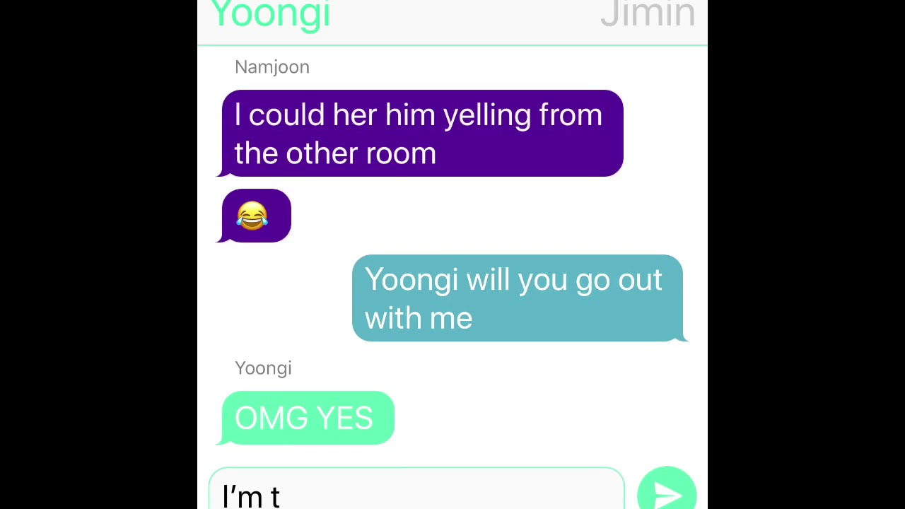 Suga accidentally confesses in group chat (Yoonmin, Namjin & Vkook!)
