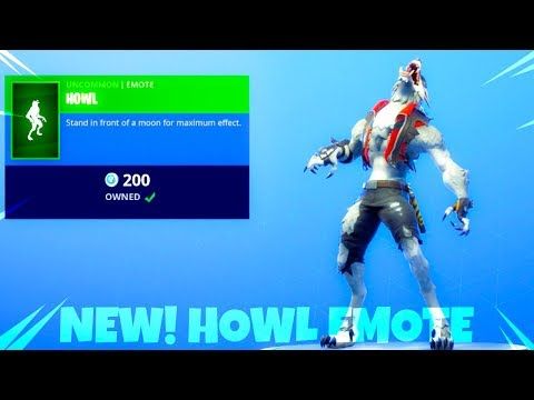 Fortnite Item Shop NEW! WOLF HOWL EMOTE! Fortnite Battle Royale