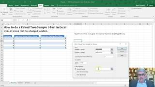 How to do a Paired Two-Sample t-Test in Excel 2016 (Mac and Windows)