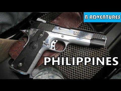 Security Guns: 1911 45, Colt CAR-15, Norinco NP-34 (Sig P228), Dumaguete Philippines S2 Ep14