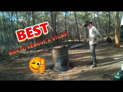 Tree Stump Burner, the easiest way to remove a stump.