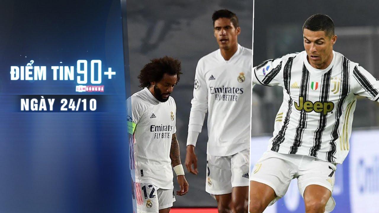 Điểm tin 90+ ngày 24/10 | CĐV Real lo lắng trước SKĐ; Ronaldo vẫn còn cơ hội đối đầu Messi sắp tới