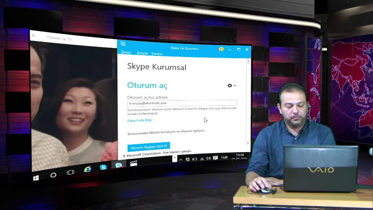 Skype Kurumsal  İlk Login ve Toplantı Katılımı
