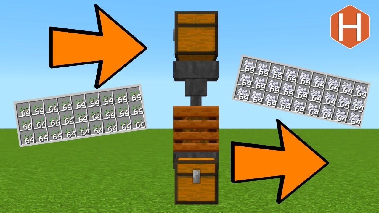 Minecraft Fully Automatic Composter Compost To To Bonemeal Farm 1 14 Youtube