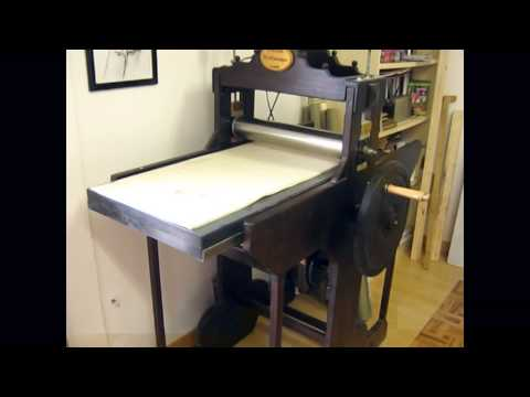 Making an engraving printing (I sell printing press)