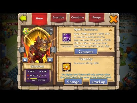 Evolving Ghoulem Plus Leveling To 9 Star Castle Clash New Hero