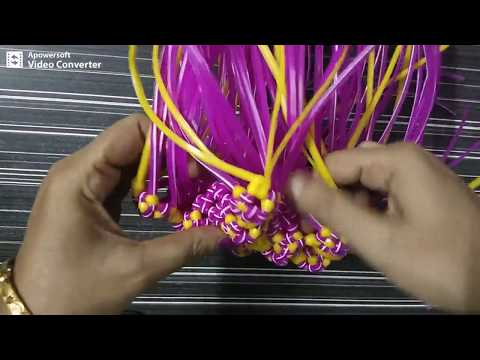 Normal knot || double wire || Pooja basket || Part || 3/5