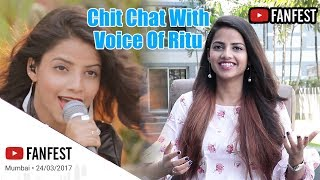 Voice Of Ritu | Ritu Agarwal | Youtube Fanfest Mumbai 2018 Interviews