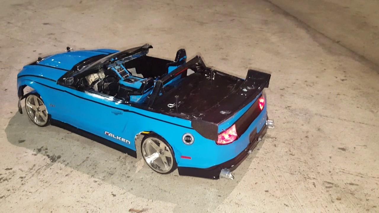 Custom Convertible Rc Drift Car Mustang Gt All Bidness Youtube