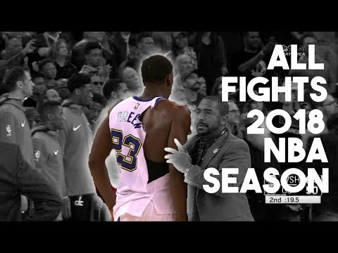 ALL FIGHTS IN THE 2018 NBA SEASON | PLAYOFFS | PART 1 |2018