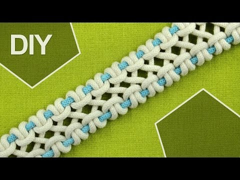 DIY / crossed sennit, chain - FOUR strands