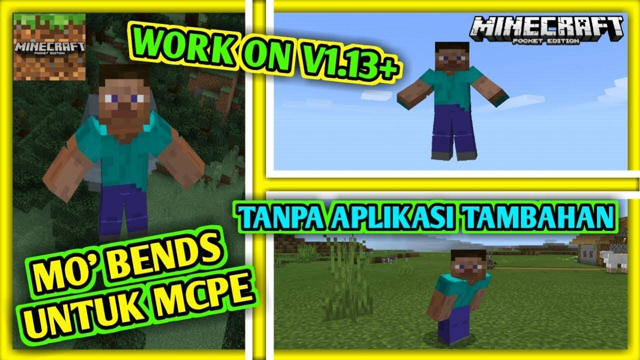 Cara Download Dan Install MINECRAFT MO' BENDS DI MCPE - Addon Animation #1