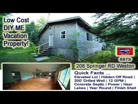 Cheap Vacation Property In Maine | 208 Springer RD Weston ME MOOERS REALTY #8879