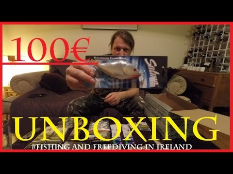 100€ Unboxing - Fishing Tackle and extras 4K